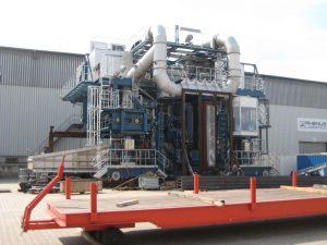 Stahlkonstruktion Koksüberleitmaschine – Kokerei Schweden